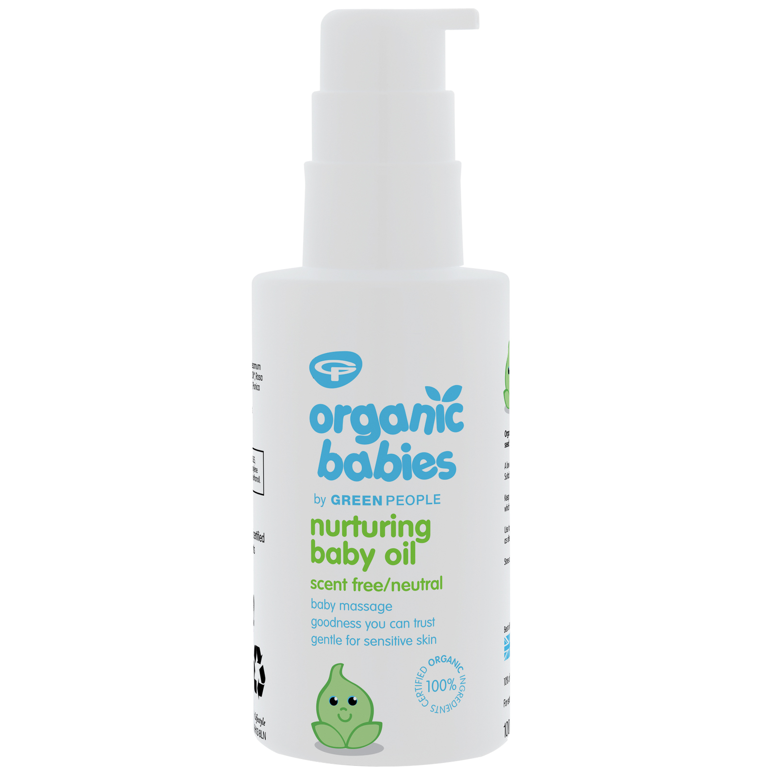 Green People Organic Babies Nurturing Baby Oil Scent Free 100ml