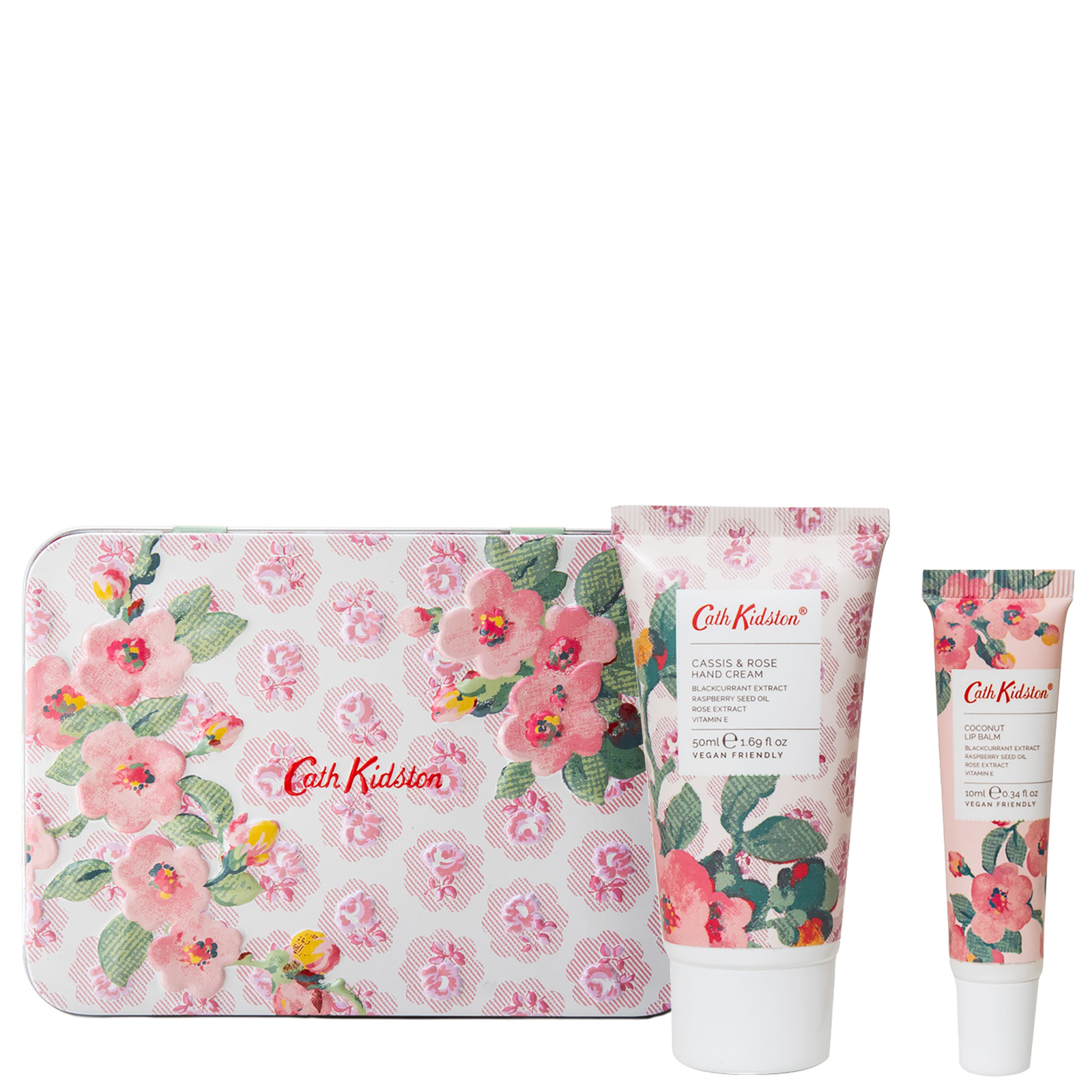 Cath Kidston Christmas 2020 Cassis & Rose Hand & Lip Tin