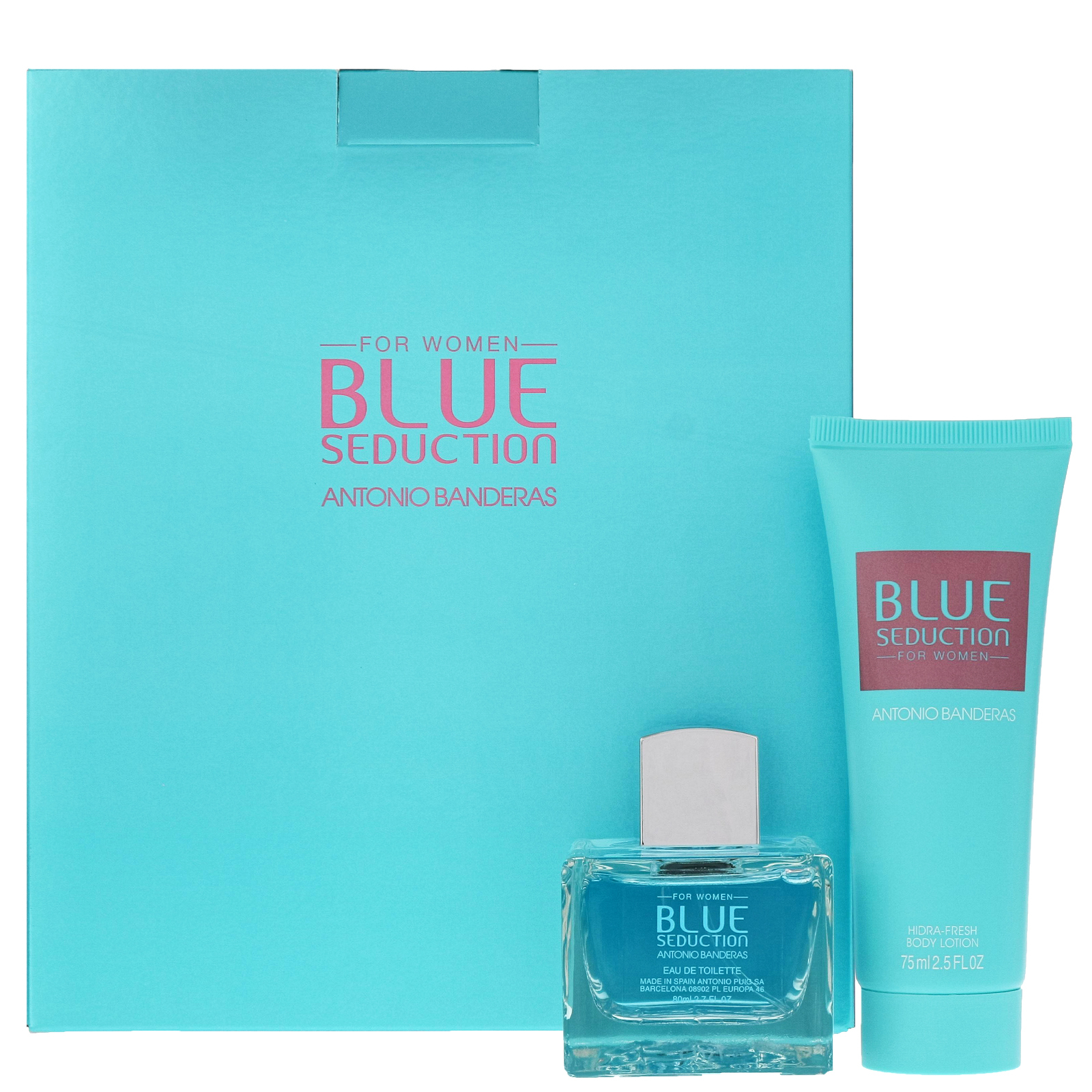 Antonio Banderas Blue Seduction For Women Eau de Toilette Spray 80ml Gift Set