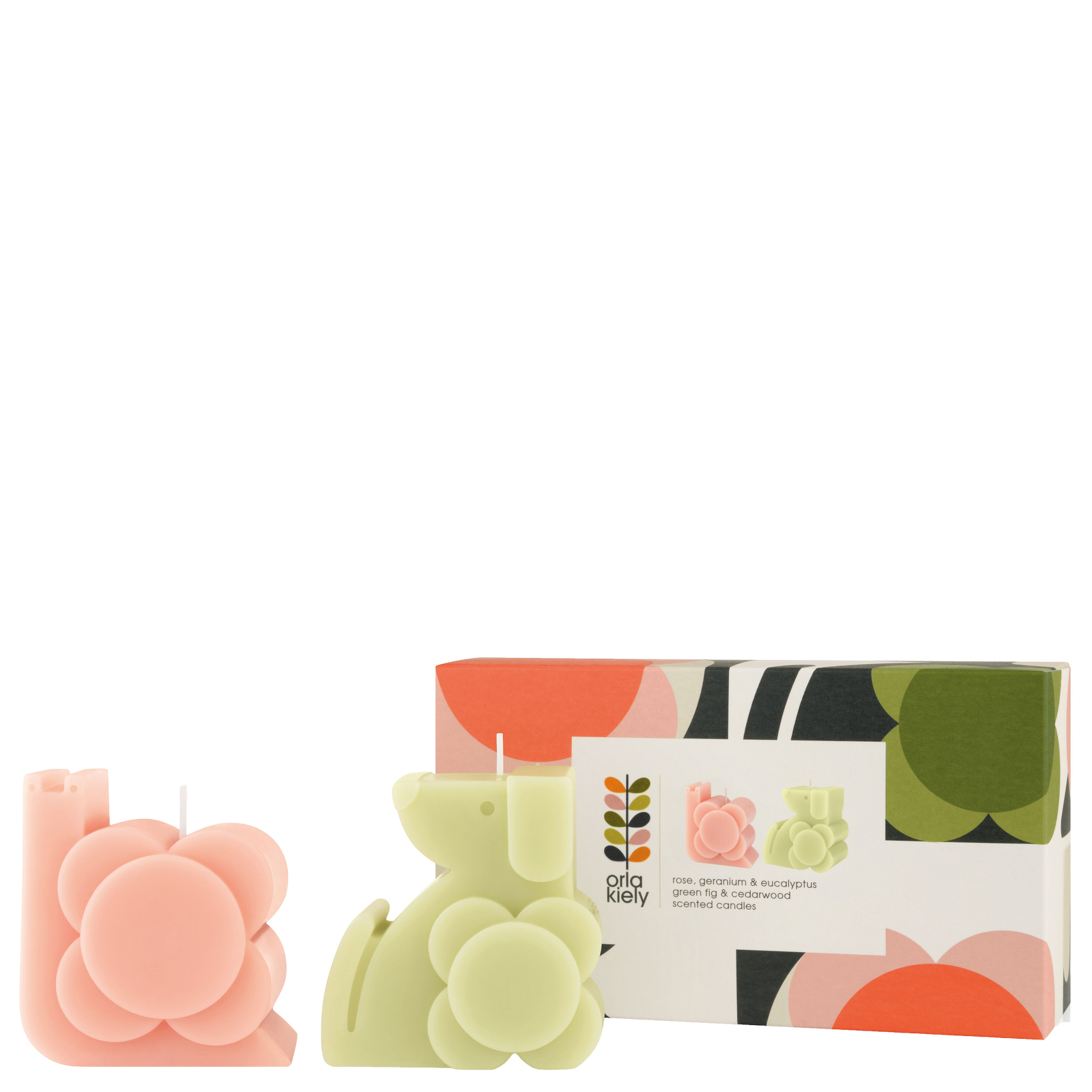 Orla Kiely Home  Dog and Snail Moulded Scented Candle Gift Set