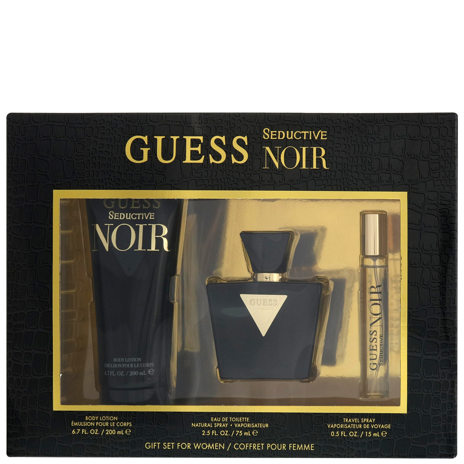 Guess Seductive Noir Eau de Toilette Spray 75ml Gift Set