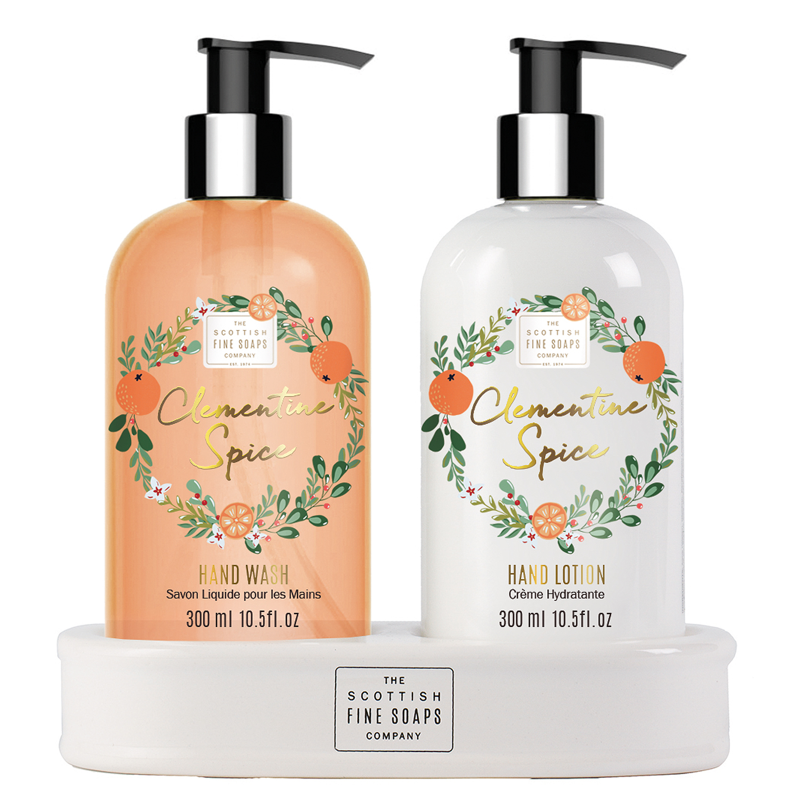 Scottish Fine Soaps Christmas 2020 Clementine Spice Hand Care Set