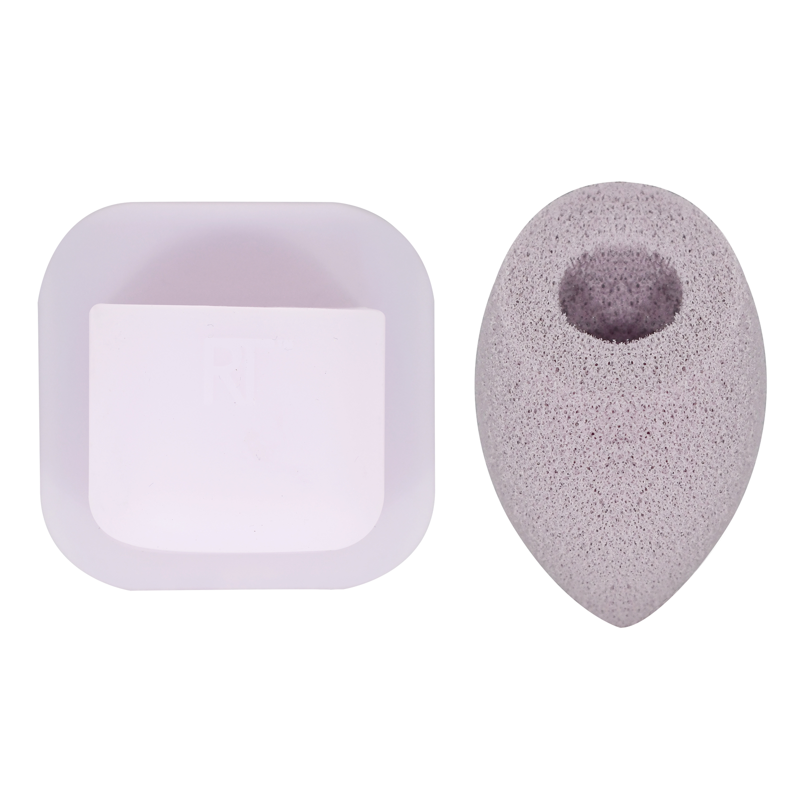 Real Techniques Sponges Miracle Cleansing Sponge + Stick & Store Sponge Keeper