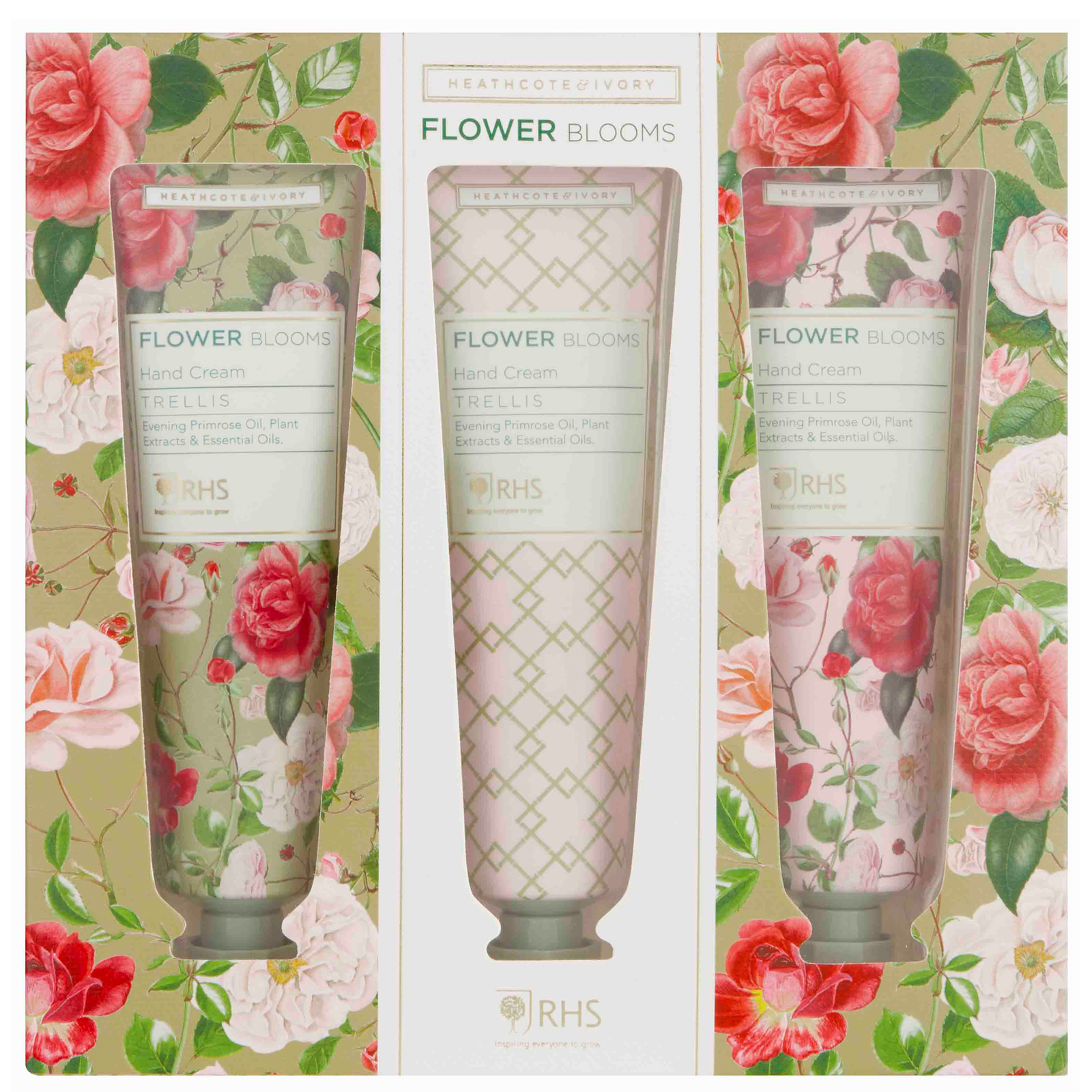 RHS Flower Blooms Trellis Hand Cream Set