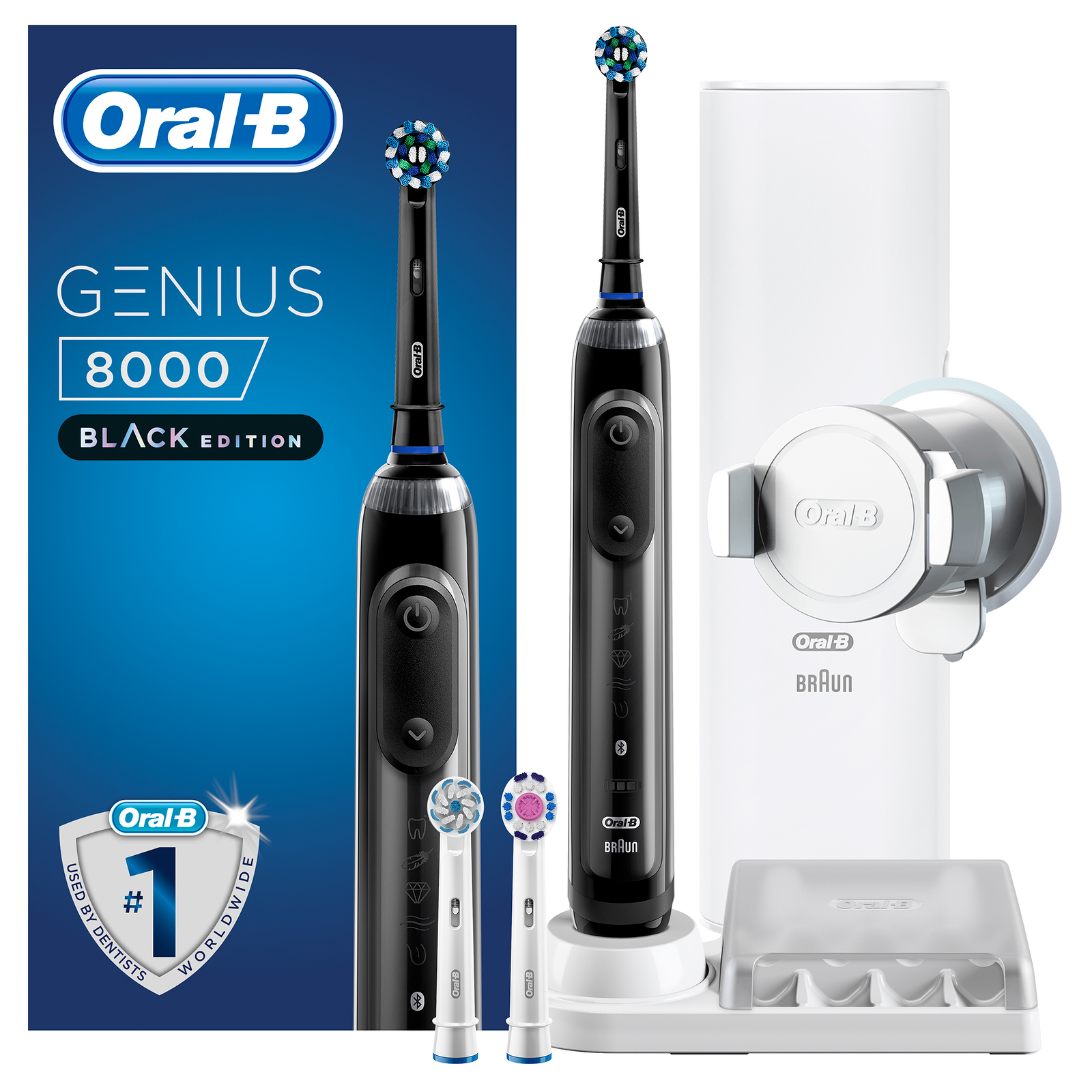 Oral-B Genius 8000 CrossAction Electric Toothbrush Black Edition