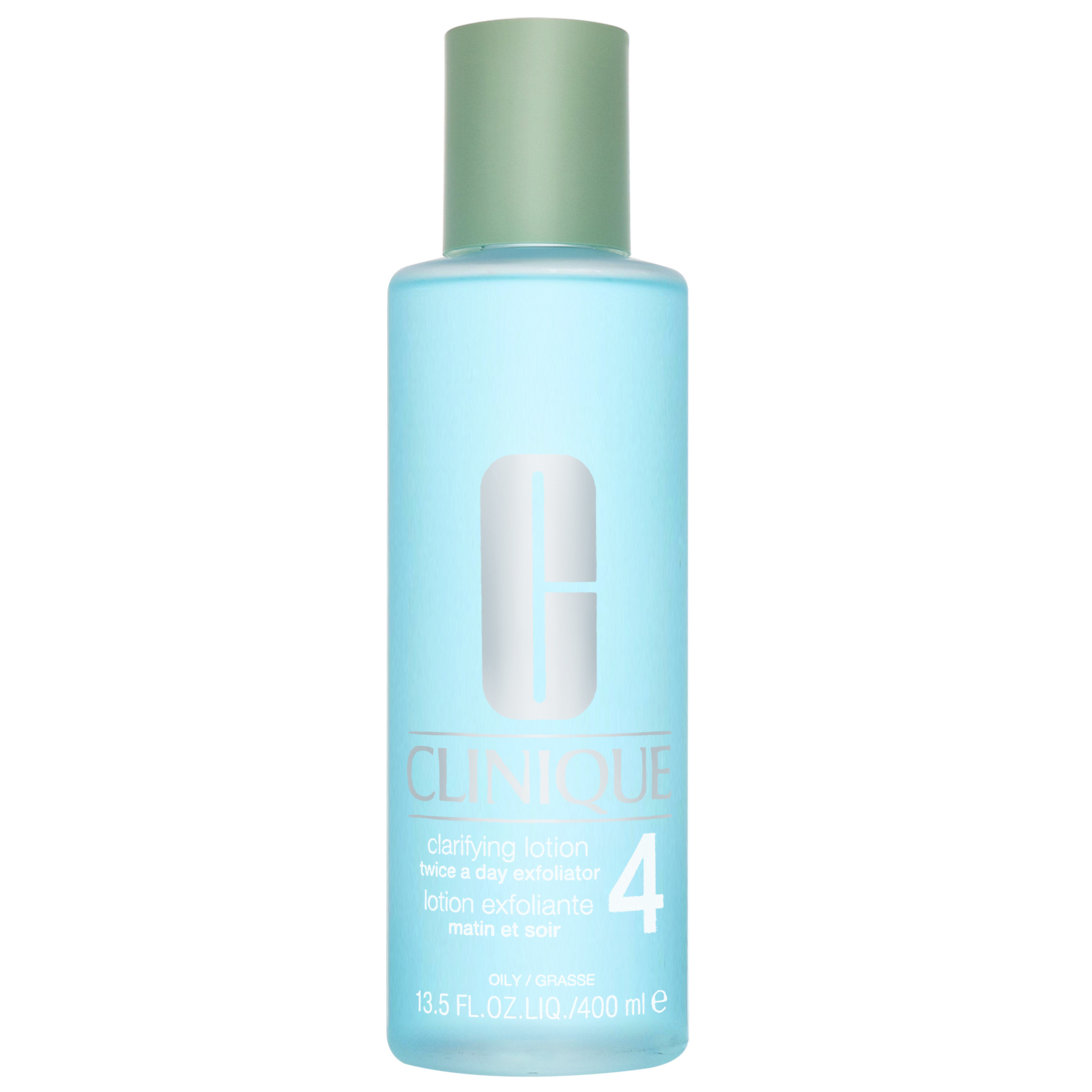 Clinique Cleansers & Makeup Removers Clarifying Lotion Twice A Day Exfoliator 4 for Oily Skin 400ml / 13.5 fl.oz.
