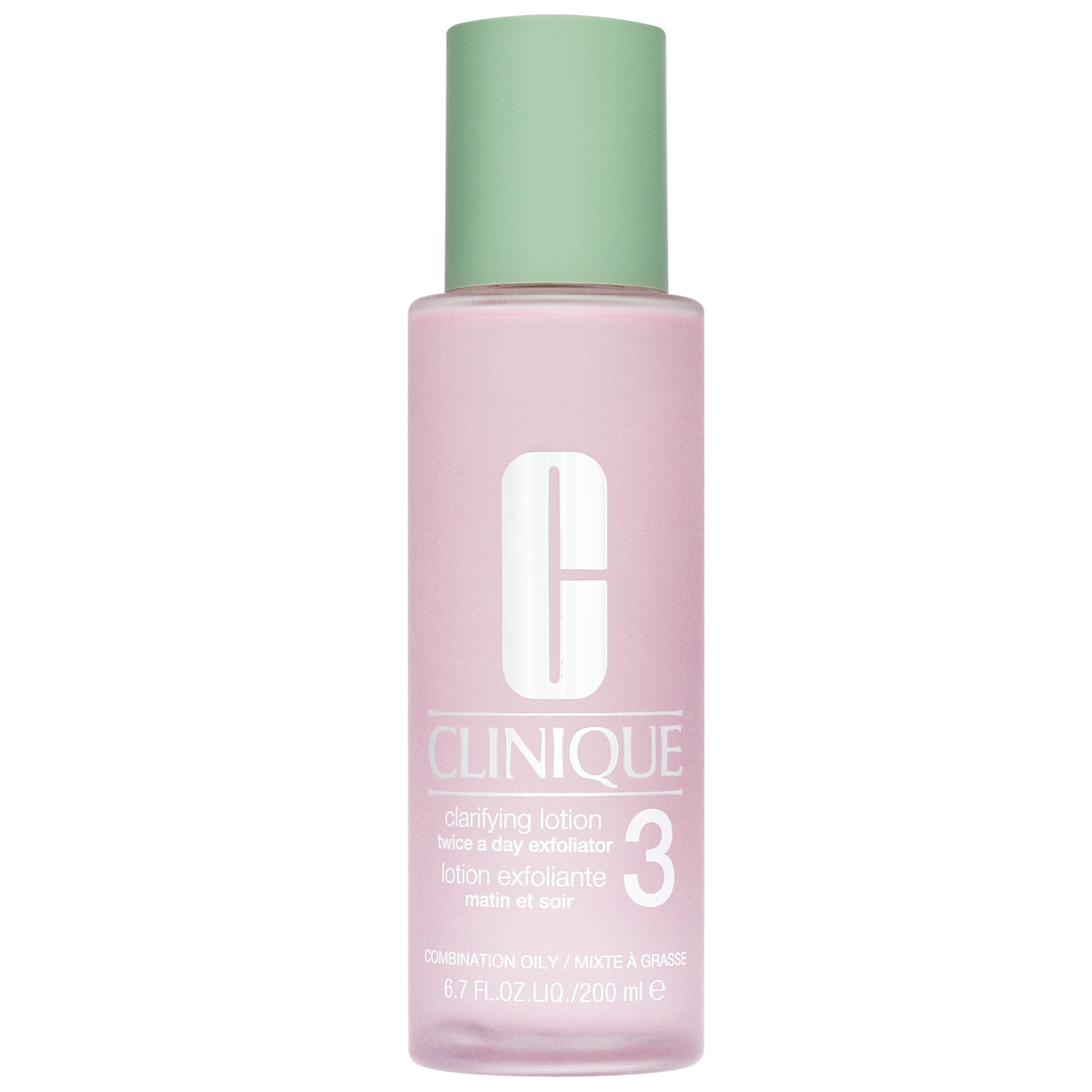 Clinique Cleansers & Makeup Removers Clarifying Lotion Twice A Day Exfoliator 3 for Combination and Oily Skin 200ml / 6.7 fl.oz.