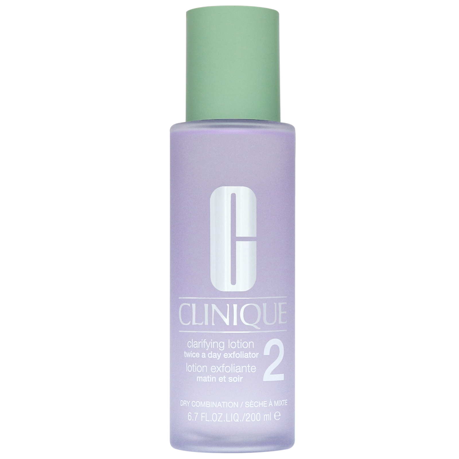Clinique Cleansers & Makeup Removers Clarifying Lotion Twice A Day Exfoliator 2 for Dry and Combination Skin 200ml / 6.7 fl.oz.