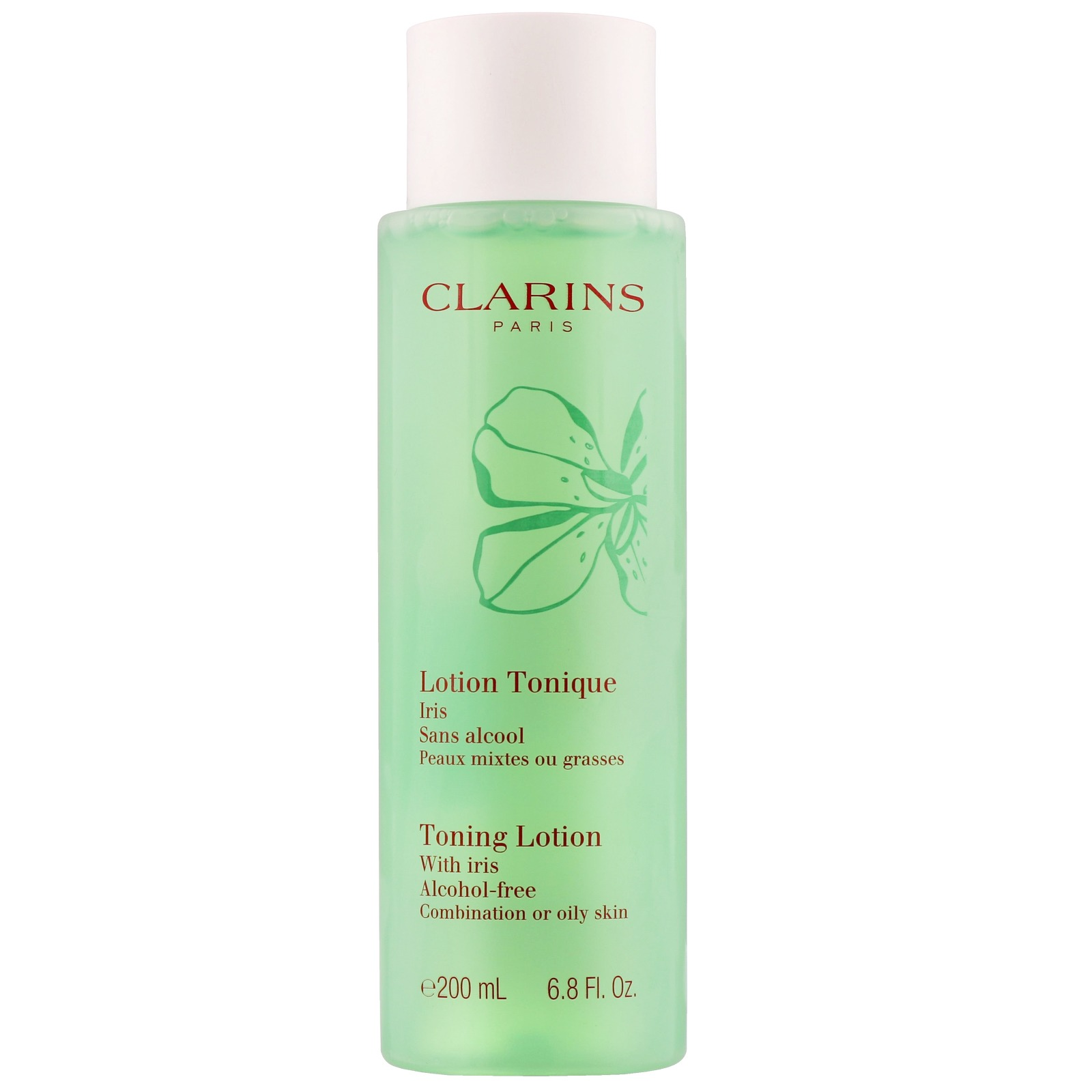Clarins Cleansers & Toners Toning Lotion With Iris Alcohol-Free Combination/Oily Skin 200ml / 6.8 fl.oz.