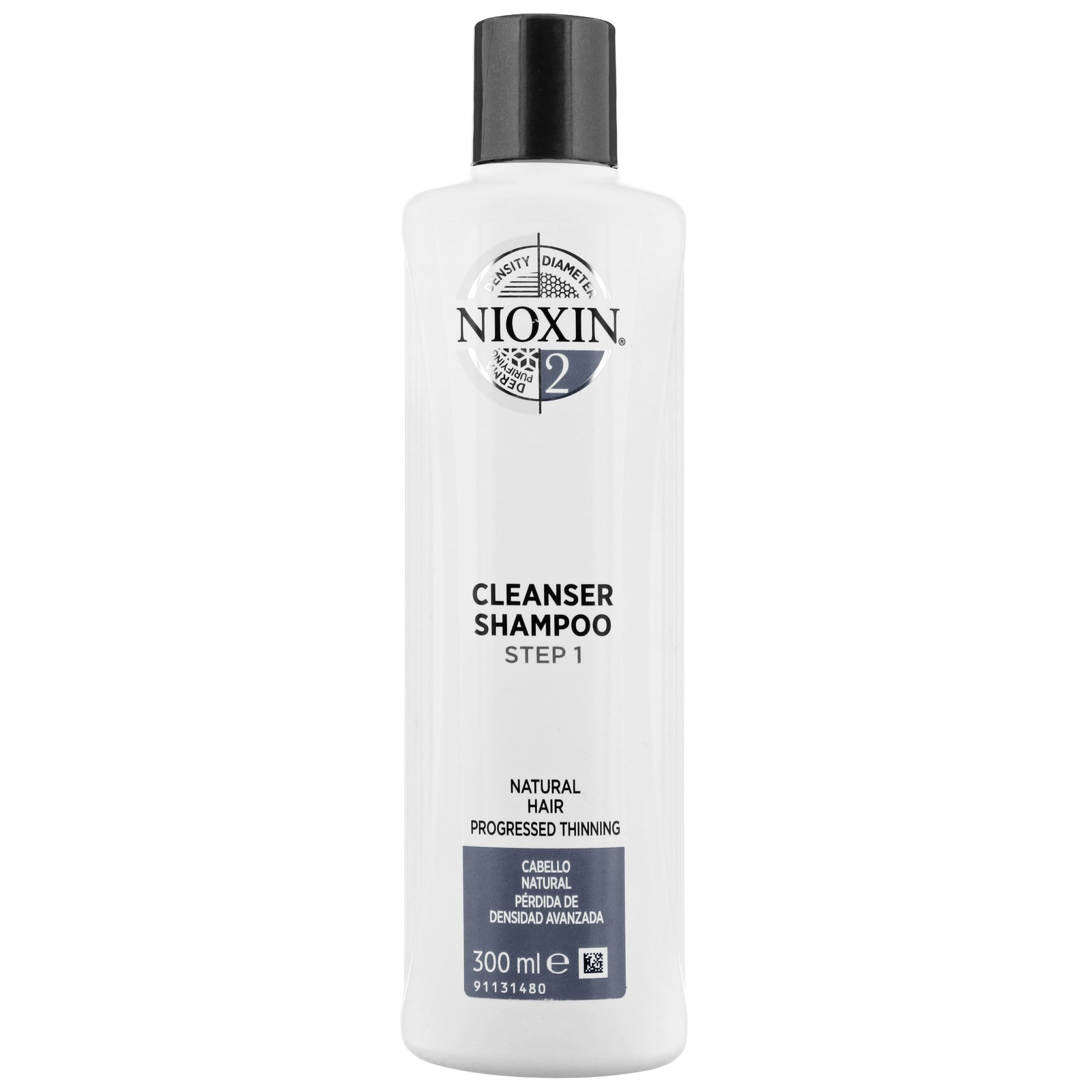 Nioxin 3D Care System  System 2 Step 1 Cleanser Shampoo: For Natural Hair And Progressed Thinning 300ml