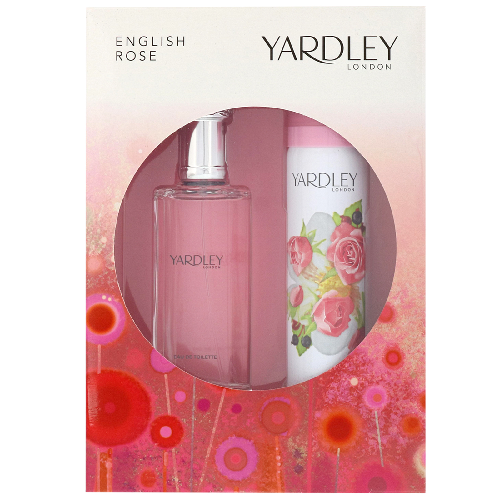 Yardley English Rose Eau de Toilette Spray 50ml Gift Set