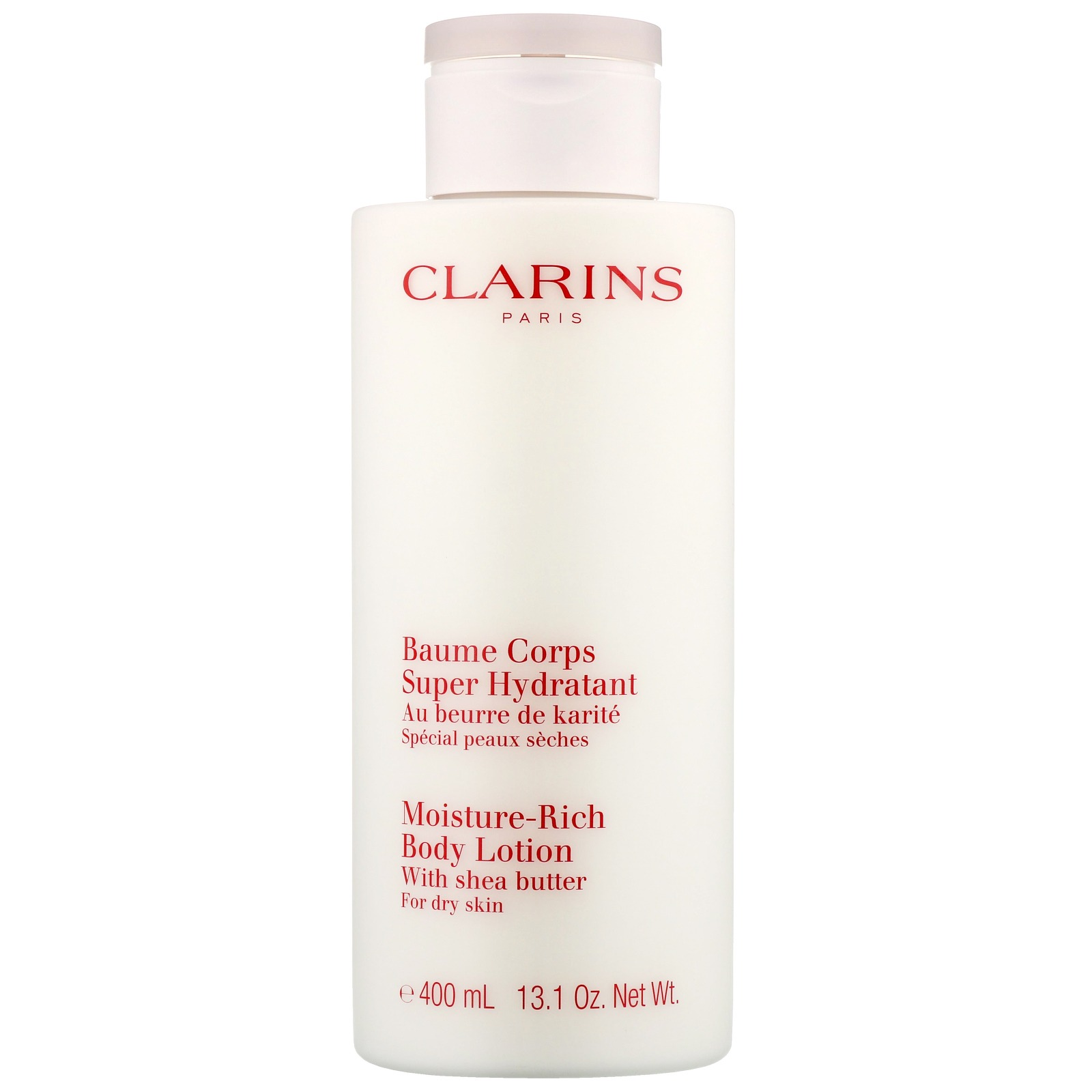 Clarins Body Moisturisers Moisture-Rich Body Lotion with Shea Butter For Dry Skin 400ml / 13.1 oz.