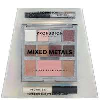 Profusion Cosmetics Mixed Metals Face And Eyes Assortment Silver
