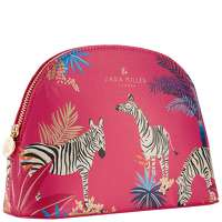 Click to view product details and reviews for Sara Miller Tahiti Medium Cosmetic Bag Red.