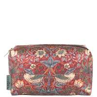 Click to view product details and reviews for Morris And Co Strawberry Thief Medium Cosmetic Bag.