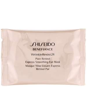 Shiseido Benefiance WrinkleResist24 Pure Retinol Express Smoothing Eye Mask 12 Sachets x 2 Patches