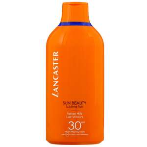 Lancaster Sun Beauty Velvet Tanning Milk for Body SPF30 400ml