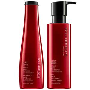 Shu Uemura Art of Hair Color Lustre Duo Set: Brilliant Glaze Shampoo 300ml & Conditioner 250ml For Colour Treated Hair