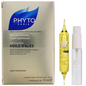 PHYTO TREATMENTS HUILE D'ALES: Intense Hydrating Oil Treatment For Dry, Dull & Treated Hair x 5 ampoules