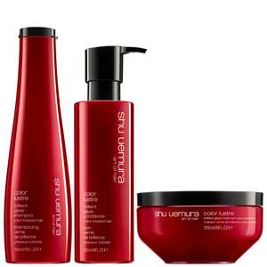 Shu Uemura Art of Hair Color Lustre Trio Set: Brilliant Glaze Shampoo 300ml, Conditioner 250ml & Masque 200ml