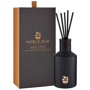 Noble Isle Home Fragrance Whisky and Water Scented Reed Diffuser 180ml