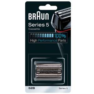 Braun Replacement Heads Series 5 Cassette 52B Black