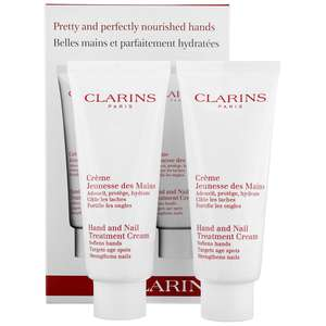 Clarins Hand & Foot Care Hand & Nail Treatment Cream 2 x 100ml / 3.4 oz.