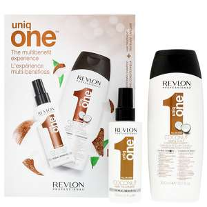 Revlon Professional Uniq One Coconut Hair Treatment 150ml & Conditioning Hair & Scalp Shampoo 300ml