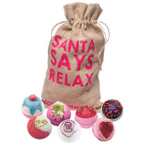 Bomb Cosmetics Christmas 2019 Santa Says Relax Sack