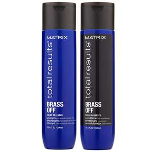 Matrix Total Results Brass Off Duo Set: Shampoo 300ml & Conditioner 300ml