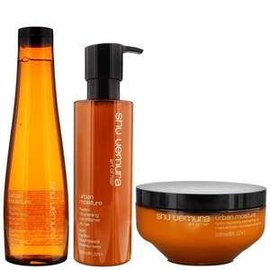 Shu Uemura Art of Hair Urban Moisture Trio Set: Hydro-Nourishing Shampoo 300ml, Conditioner 250ml & Masque 200ml