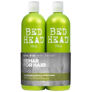 TIGI Bed Head Urban Antidotes Re-Energize Tween Set: Shampoo 750ml & Conditioner 750ml