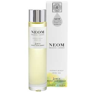 Neom Organics London Scent To Boost Your Energy Energy Burst Body Oil 100ml