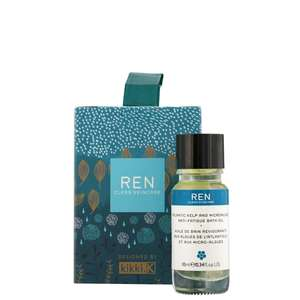 REN Clean Skincare Gifts Atlantic Kelp and Microalgae Bath Oil Stocking Filler 10ml / 0.3 fl.oz.