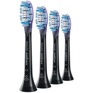 Philips Toothbrush Heads Sonicare G3 Premium Gum Care Standard Sonic Toothbrush Heads Black x 4 HX9054/33