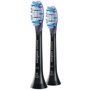 Philips Toothbrush Heads Sonicare G3 Premium Gum Care Standard Sonic Toothbrush Heads Black x 2 HX9052/33