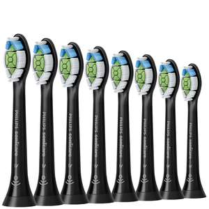 Philips Toothbrush Heads Sonicare W2 Optimal White Standard Sonic Toothbrush Heads Black x 8 HX6068/13