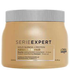 L'Oréal Professionnel SERIE EXPERT Gold Quinoa + Protein Absolut Repair Instant Resurfacing Masque 500ml