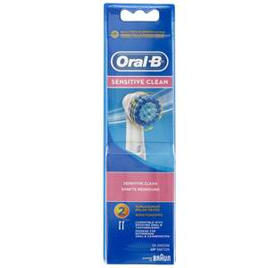 Oral-B Sensitive Clean Replacement Heads 2 Pack