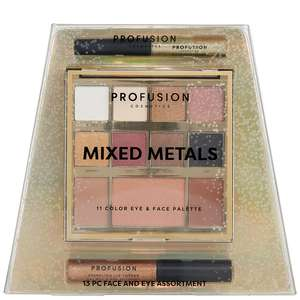 Profusion Cosmetics Mixed Metals Face and Eyes Assortment - Gold