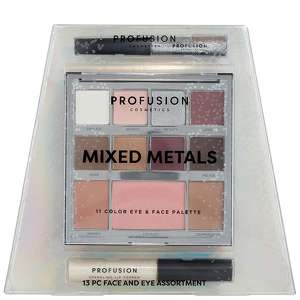 Profusion Cosmetics Mixed Metals Face and Eyes Assortment - Silver