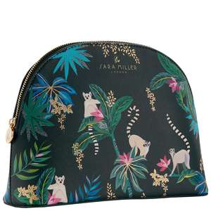 SARA MILLER Accessories Large Cosmetic Bag - Dark Green Tahiti