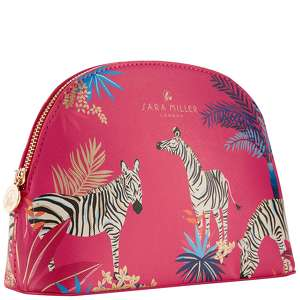 SARA MILLER Accessories Medium Cosmetic Bag - Red Tahiti