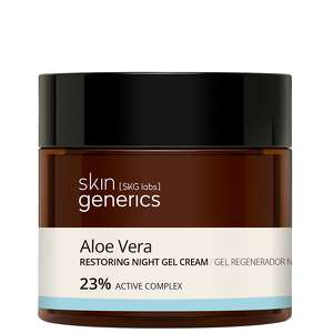 Skin Generics Moisturising Aloe Vera Restoring Night Gel 23% Active Complex 50ml