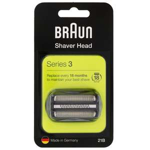 Braun Replacement Heads Series 3 21B Cassette