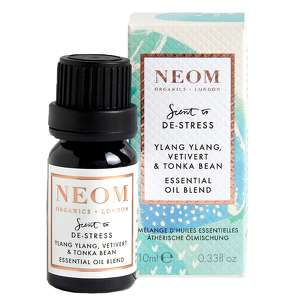 Neom Organics London Scent To De-Stress Ylang Ylang, Vetivert & Tonka Bean Essential Oil Blend 10ml