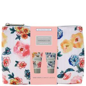 Vintage & Co Patterns & Petals Hands On The Go Cosmetic Bag