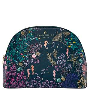 SARA MILLER Underwater Spa Large Seahorse Cosmetic Bag