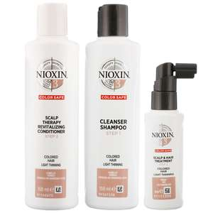 Nioxin 3D Care System  System 3, 3 Part System Kit For Colored Hair And Light Thinning