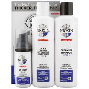 Nioxin 3D Care System  System 6, 3 Part System Kit: For Chemically Treated Hair With Progressed Thinning